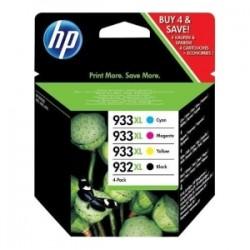 HP MULTIPACK NERO / CIANO / MAGENTA / GIALLO C2P42AE 932 XL + 933 XL 1X CARTUCCIA HP 932XL + 3X CARTUCCE HP 933XL: C +M