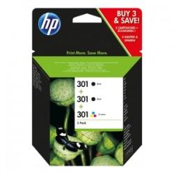 HP MULTIPACK NERO / DIFFERENTI COLORI E5Y87EE 301 3X CARTUCCE HP 301: 2X CH561EE + 1X CH562EE ORIGINALE