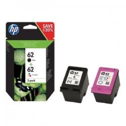 HP MULTIPACK NERO / DIFFERENTI COLORI N9J71AE 62 2X INCHIOSTRO HP 62: 1X C2P04AE + 1X C2P06AE ORIGINALE