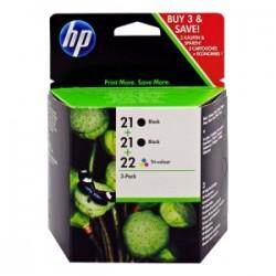 HP MULTIPACK NERO / DIFFERENTI COLORI SD400AE 21 + 22 INCHIOSTRO: 2X HP 21 - C9351AE + HP 22 - C9352AE