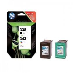 HP MULTIPACK NERO / DIFFERENTI COLORI SD449EE 338 + 343 INCHIOSTRO: HP 338 - C8765EE + HP 343 - C8766EE ORIGINALE