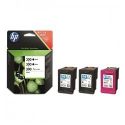HP MULTIPACK NERO / DIFFERENTI COLORI SD518AE 300 3X CARTUCCE HP 300: 2 X CC640EE + 1 CC643EE ORIGINALE
