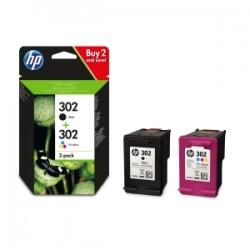 HP MULTIPACK NERO / DIFFERENTI COLORI X4D37AE 302  ORIGINALE