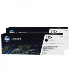 HP MULTIPACK NERO CF380XD 312X PACCO DOPPIO DA 4.400 COPIE ORIGINALE