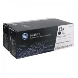 HP MULTIPACK NERO Q2612AD 12A CONFEZIONE DOPPIA A 2.000 P. ORIGINALE