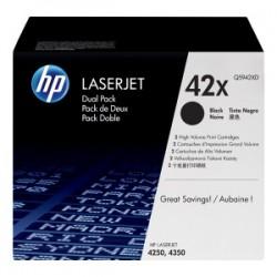 HP MULTIPACK NERO Q5942XD 42X 2X20.000 P. ORIGINALE