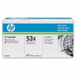 HP MULTIPACK NERO Q7553XD 53X 2 X 7.000 P. ORIGINALE
