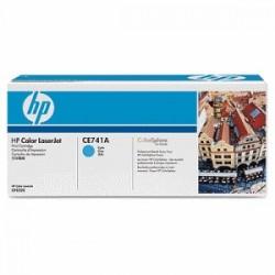 HP TONER CIANO CE741A 307A 7300 COPIE  ORIGINALE
