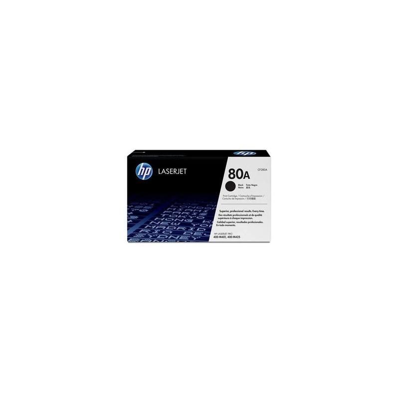 HP TONER NERO CF280A 80A 2560 COPIE STANDARD ORIGINALE
