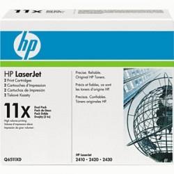 HP TONER NERO Q6511X 11X 12000 COPIE  ORIGINALE