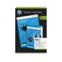 HP VALUE PACK CIANO / MAGENTA / GIALLO 1CC21AE 953 XL  ORIGINALE