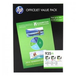 HP VALUE PACK CIANO / MAGENTA / GIALLO F6U78AE 935 XL 3 CARTUCCE D\'INCHIOSTRO: 935XL C/M/Y + 25 PG. HP PROFESSIONAL INKJ