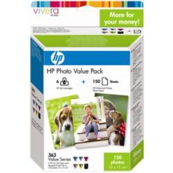 HP VALUE PACK NERO / CIANO / MAGENTA / GIALLO / CIANO (CHIARO) / MAGENTA (CHIARO) Q7966EE 363 SET FOTOGRAFICO, 150 PG. 1