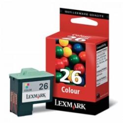 LEXMARK CARTUCCIA D\'INCHIOSTRO COLORE 10N0026E 26 ~275 COPIE