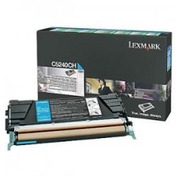 LEXMARK TONER CIANO C5240CH  5000 COPIE RESTITUZIONE- CARTUCCIA DI TONER ORIGINALE