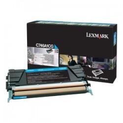 LEXMARK TONER CIANO C746A1CG C746 7000 COPIE CARTUCCIA DI STAMPA RIUTILIZZABILE ORIGINALE
