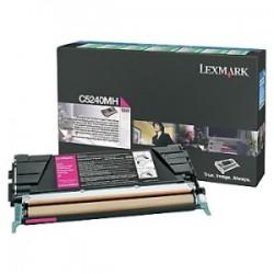 LEXMARK TONER MAGENTA C5240MH  5000 COPIE RESTITUZIONE- CARTUCCIA DI TONER ORIGINALE