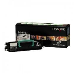 LEXMARK TONER NERO 34016HE 12A8405 6000 COPIE CARTUCCIA DI STAMPA RIUTILIZZABILE ORIGINALE