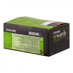 LEXMARK TONER NERO 802HK 80C2HK0 4000 COPIE CARTUCCIA DI STAMPA RIUTILIZZABILE ORIGINALE
