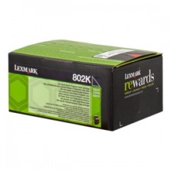 LEXMARK TONER NERO 802K 80C20K0 1000 COPIE CARTUCCIA DI STAMPA RIUTILIZZABILE ORIGINALE