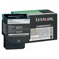 LEXMARK TONER NERO C540H1KG  2500 COPIE RESTITUZIONE- CARTUCCIA DI TONER ORIGINALE