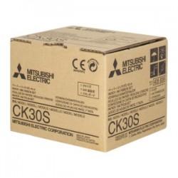 MITSUBISHI NASTRO COLORATO COLORE CK30S 3 X 80 FOGLI CARTA + 3 BANDA COLORATA, FORMATO S ORIGINALE