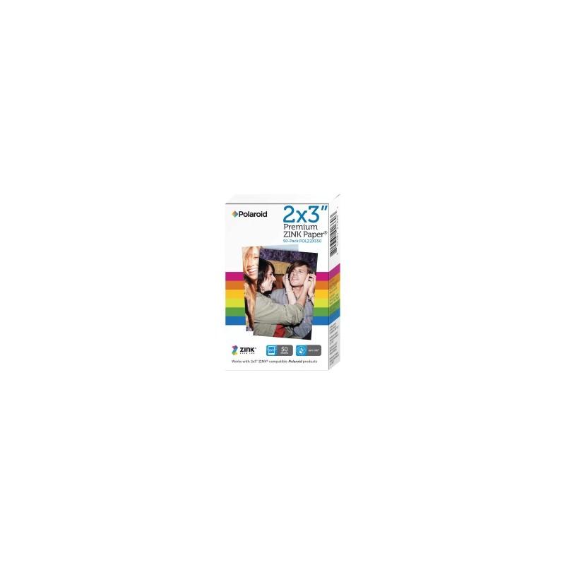 POLAROID CARTA BIANCO POLZ2X350 PREMIUM ZINK PAPER CARTA FOTOGRAFICA, 5 X 7,6 CM, 50 FOGLI, PELLICOLA ADESIVA STACCABILE