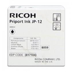 RICOH CARTUCCIA D\'INCHIOSTRO NERO JP12 817104 600ML  ORIGINALE