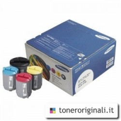 SAMSUNG MULTIPACK NERO / CIANO / MAGENTA / GIALLO CLP-P300C  CONFEZIONE MULTI: BK/C/M/Y