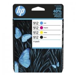 HP MULTIPACK NERO / CIANO / MAGENTA / GIALLO 6ZC74AE 912  ORIGINALE