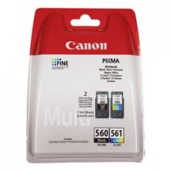 CANON MULTIPACK NERO / DIFFERENTI COLORI PG-560 + CL-561 MULTI 3713C006 ORIGINALE